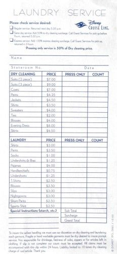 Dcl Laundry Service Order Form Laundry Service Dry Cleaning