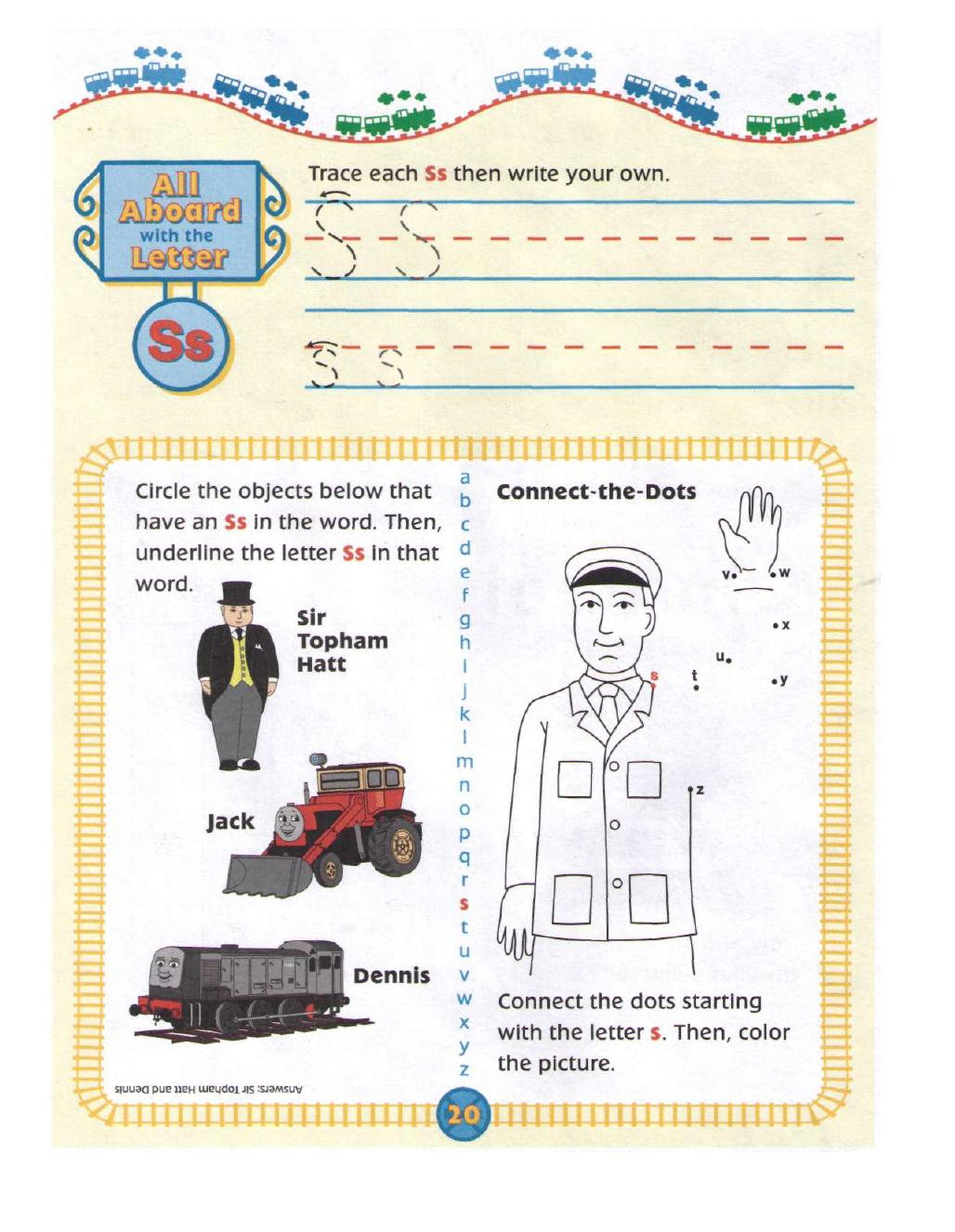 Thomas And Friends Alphabet Book In