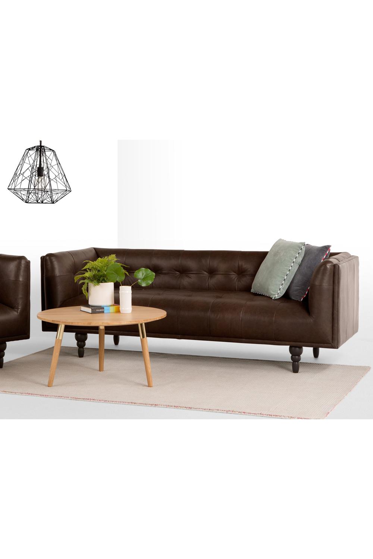 Connor 3 Sitzer Sofa Vintage Premium Leder In Braun Sofa