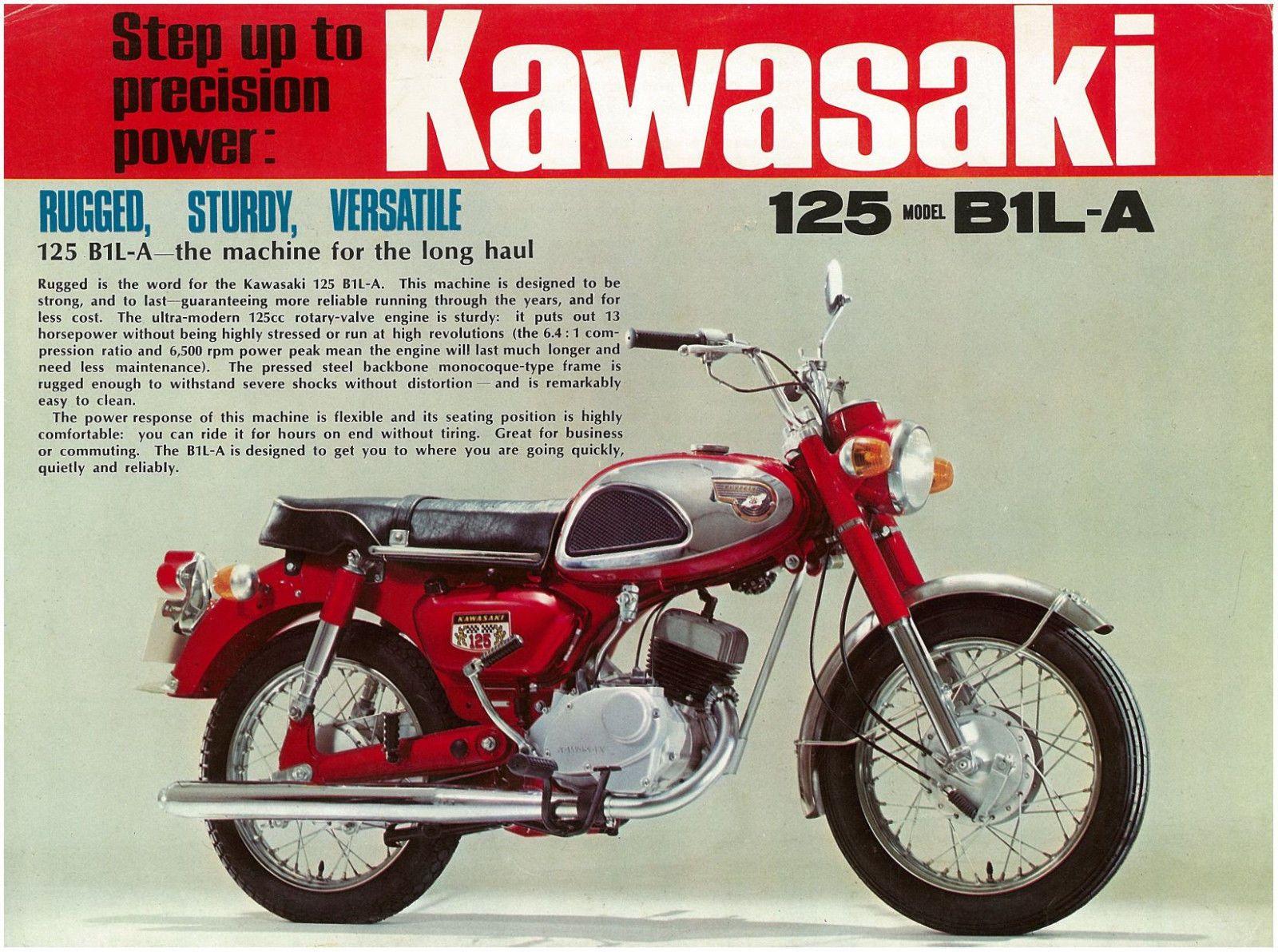 KAWASAKI Brochure B1L B1L-A B1LA 1971 to 1976 Catalog REPRO | eBay