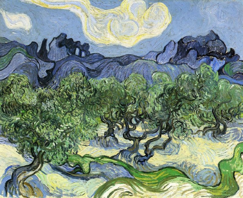The Alpilles with Olive Trees in the Foreground by Vincent Van Gogh