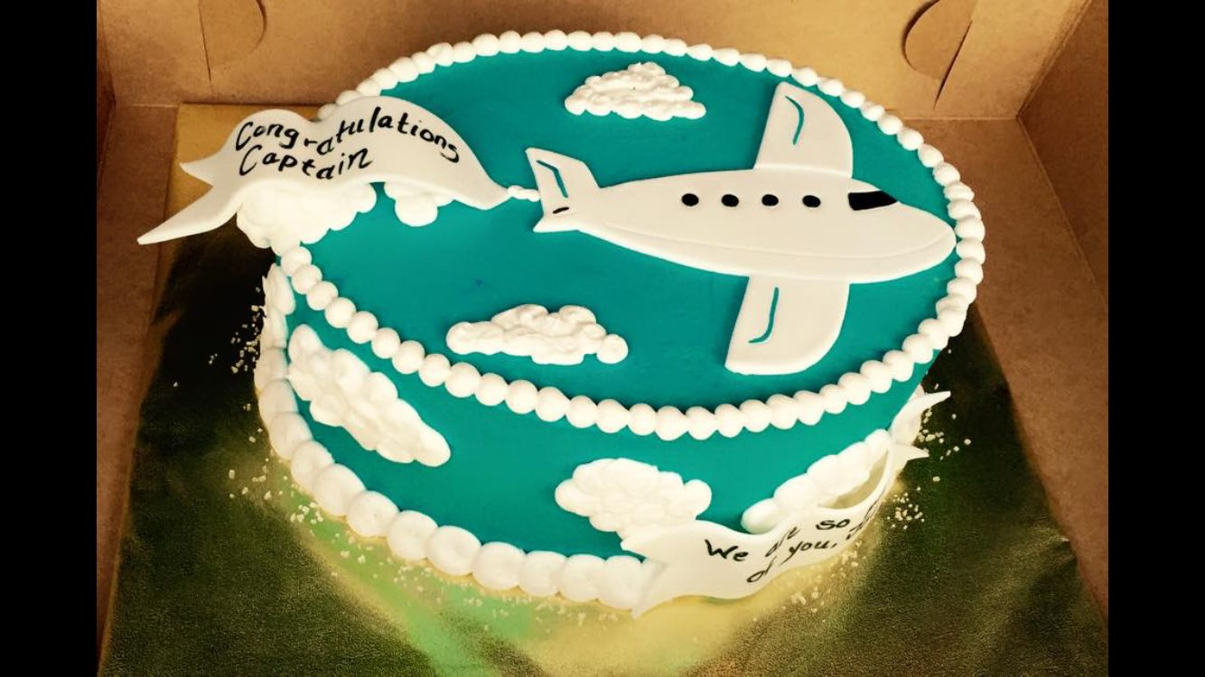 Cake for when your pilot captain airplane