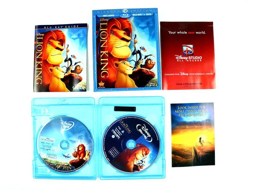 The Lion King Blu Ray Dvd 2011 2 Disc Set Diamond Edn Disney Authentic Lion King Blu Ray Lion King Dvd