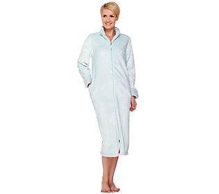 Stan Herman Silky Plush Long Zip Robe