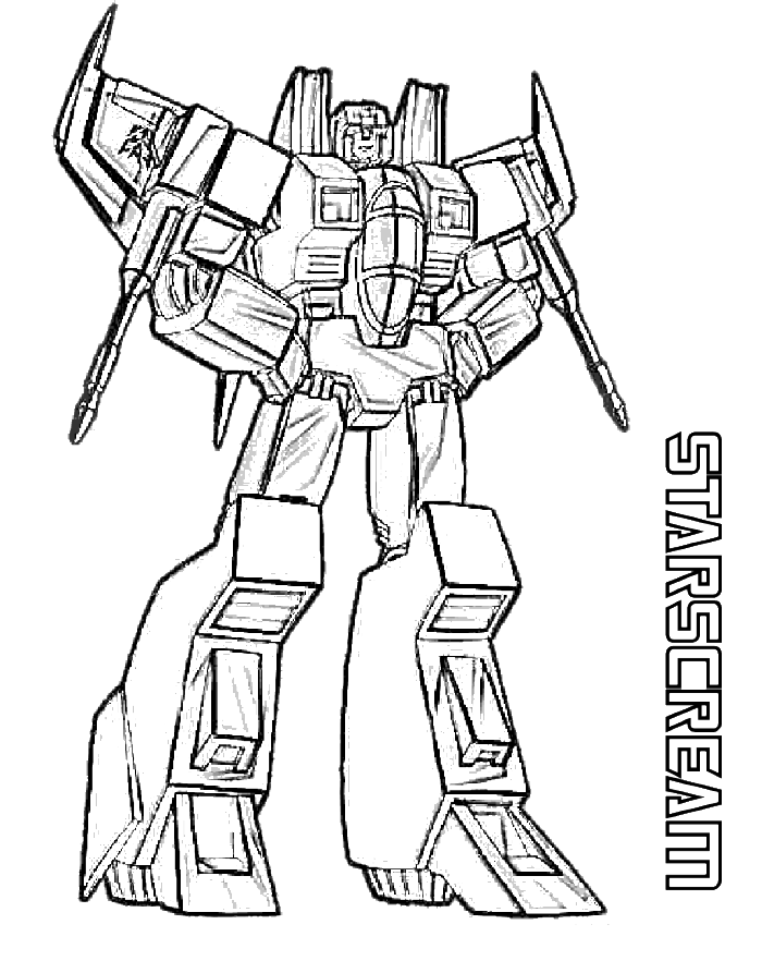 Starscream Transformers Coloring Page Transformer Coloring Pages