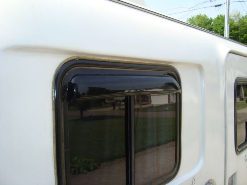 Put Some Rain Guards Over The Side Windows Fiberglass Rv