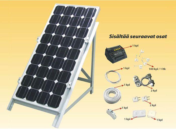 Edullisesti laadukas 75W aurinkopaneeli tarvikkeineen. Tilaa nyt helposti aurinkopaneeli!