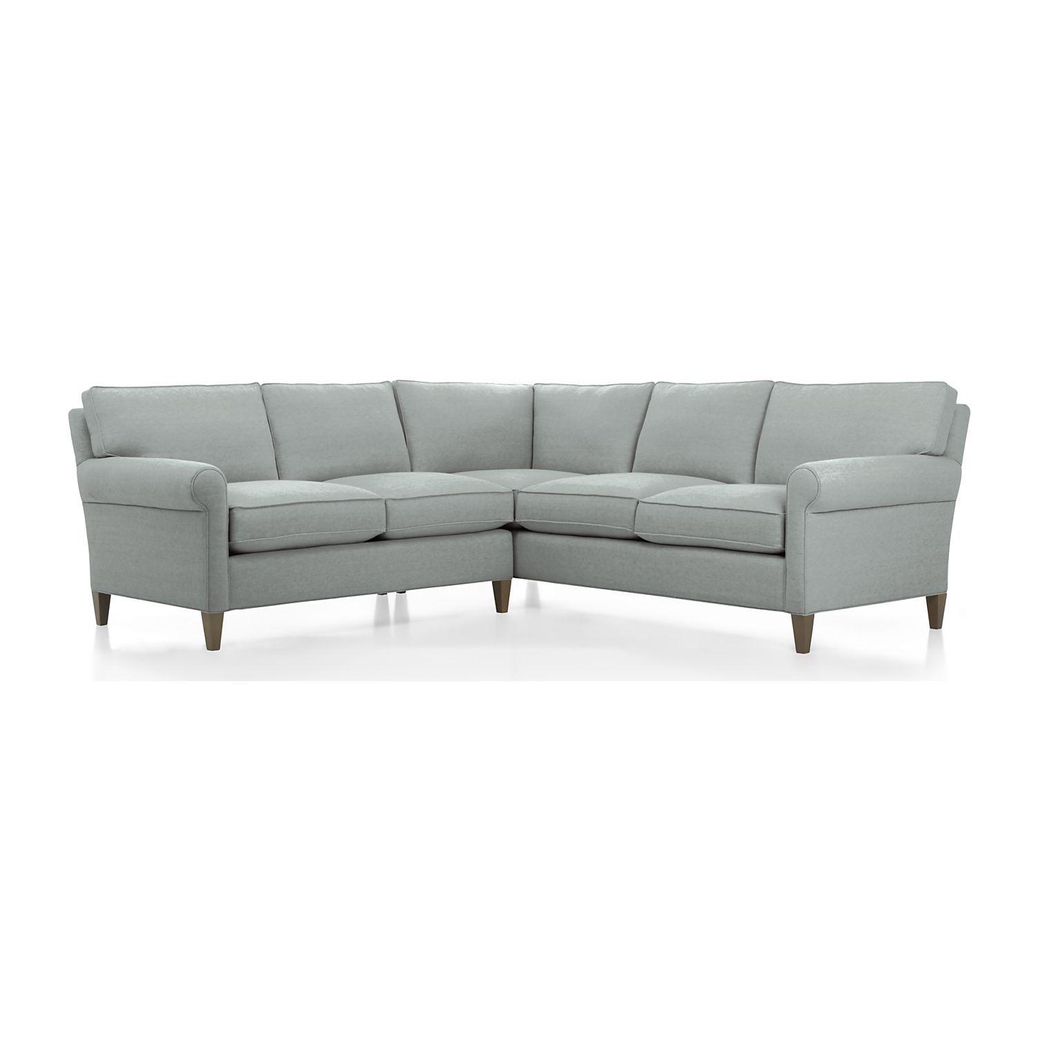 Montclair 2 piece sectional sofa ocean crate and barrel