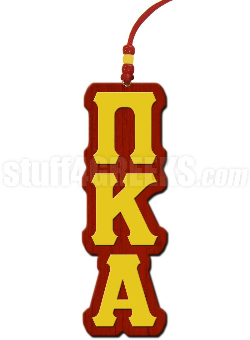 Crimson And Gold Pi Kappa Alpha Tiki Necklace Pi Kappa Alpha