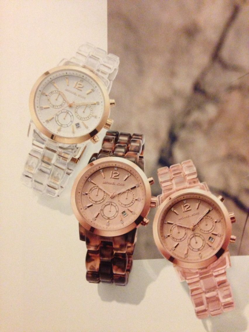 035c6bc946da MICHAEL KORS AUDRINA WATCH Clear Gold Tone acetate water resistant ATM 10  MK6200 ❤  275 (or brown tortoise)