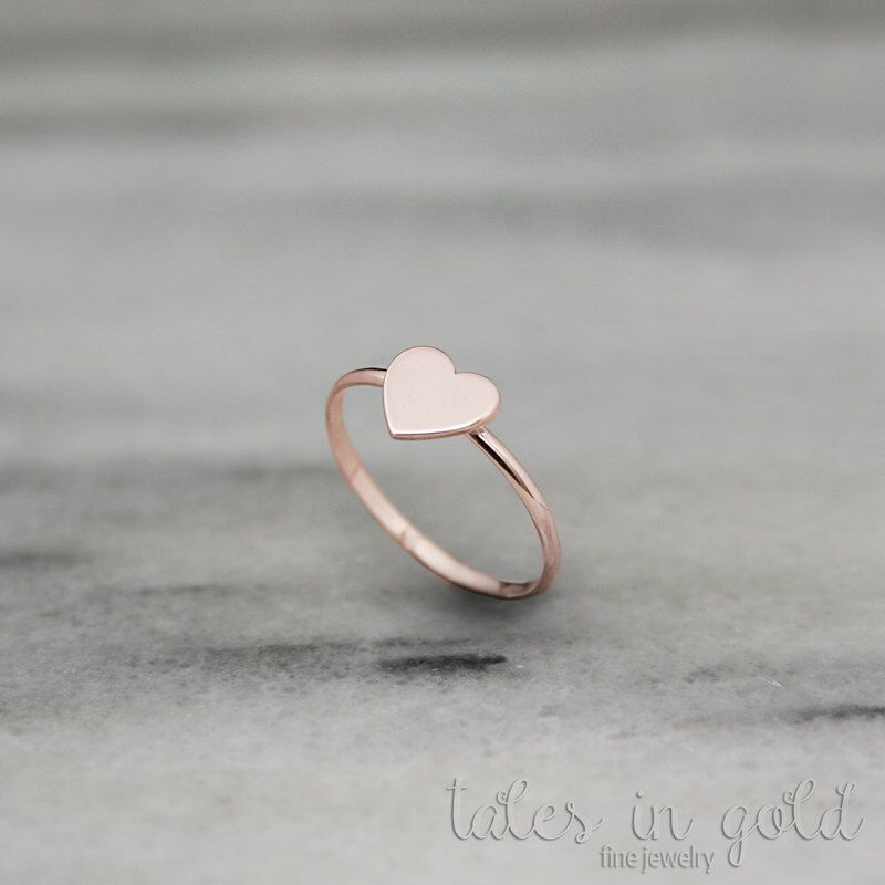 Heart Ring Rose Gold Valentine s Day 14 Karat Gold Love Ring
