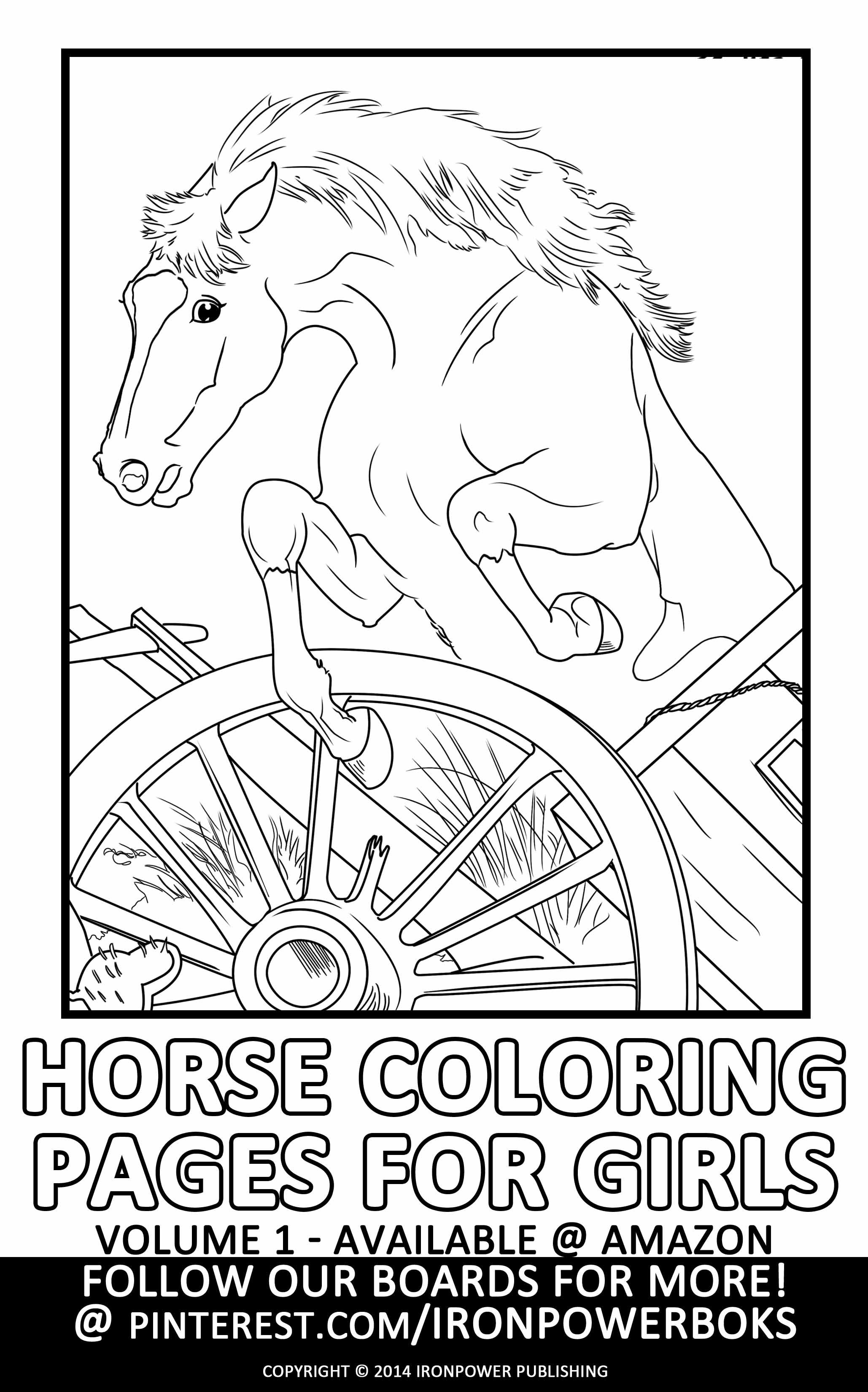 FREE Horse Coloring Pages for Girls with @ironpowerbooks ...