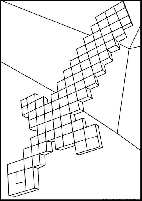 Minecraft Coloring Pages Best Coloring Pages For Kids Minecraft Coloring Pages Minecraft Diamond Sword Super Coloring Pages