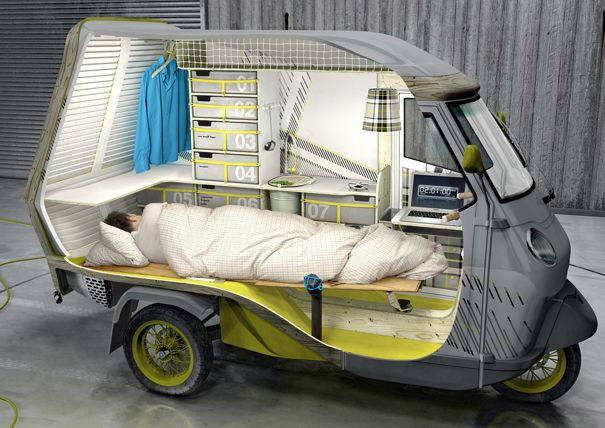 Now This Is Cool 1 Person Camper Called The Bufalino 三輪