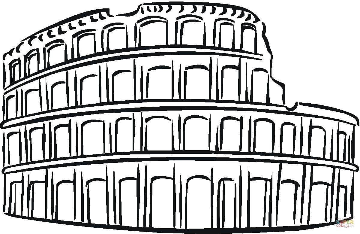 Resultado de imagen para coliseo romano dibujo | Traviesa ...