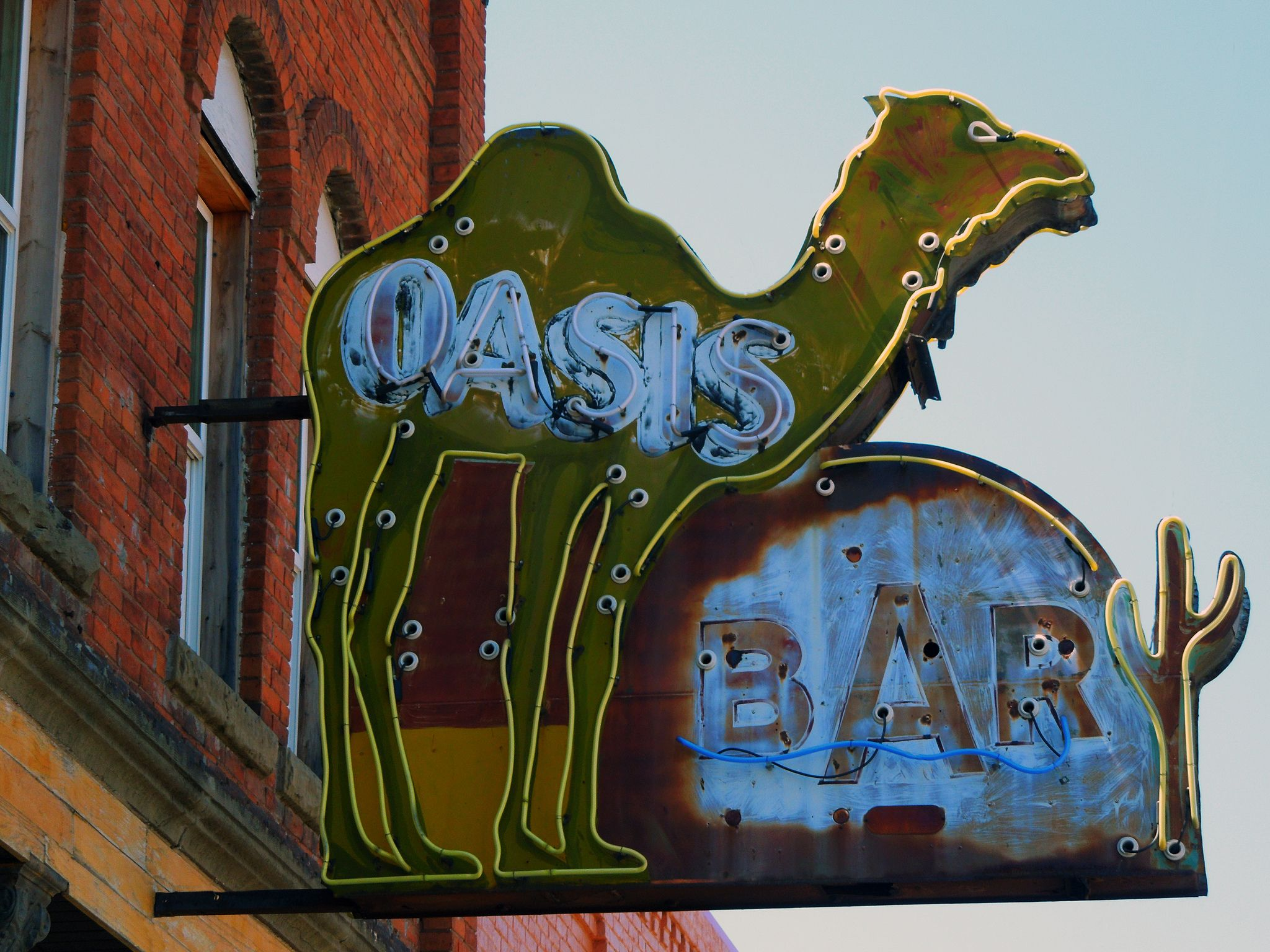 Oasis Bar   Vintage neon signs, Cool neon signs, Old neon