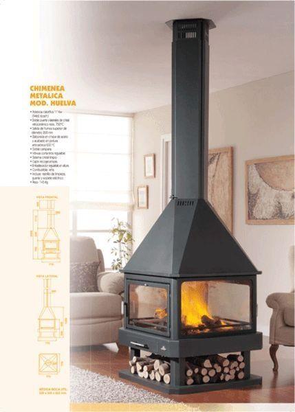 central fireplace chimenea (wood-burning closed hearth ) HUELVA by