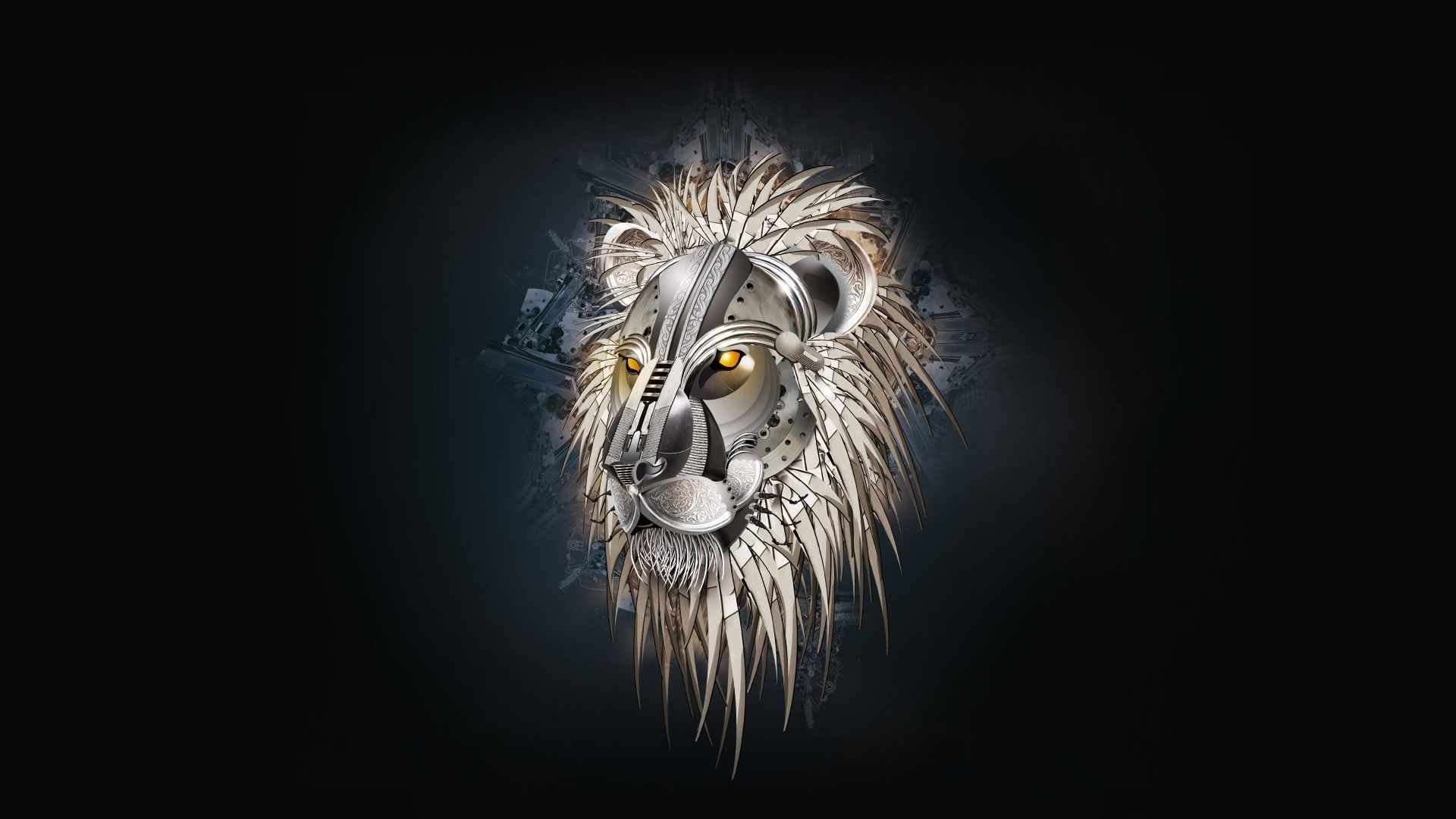 Steampunk Lion Abstract Hd Wallpaper Free Hd Wallpapers For Desktop Lion Hd Wallpaper Lion Wallpaper Abstract Lion