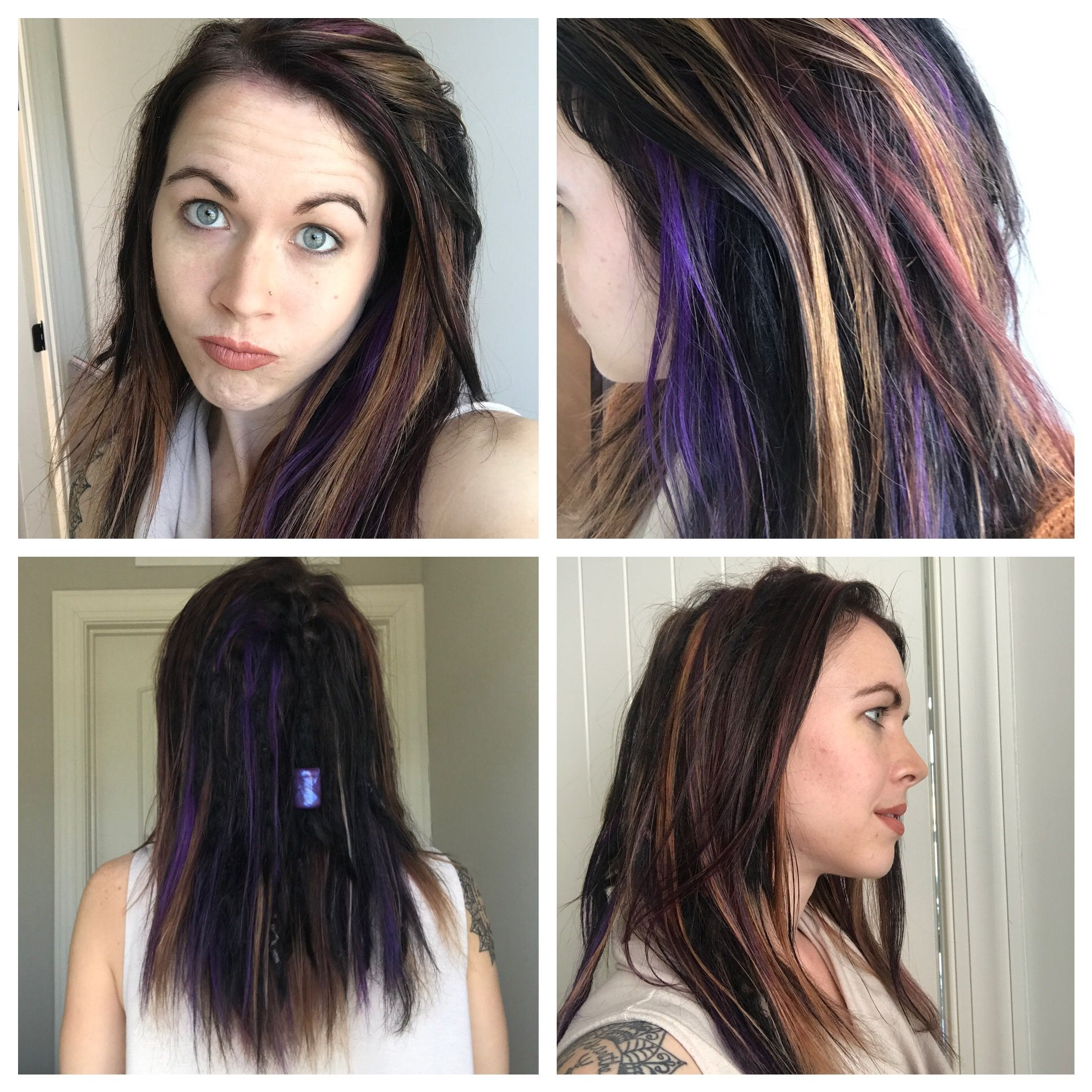 Fun Hair Dye With Partially Dreaded Hair Colors Black Base With