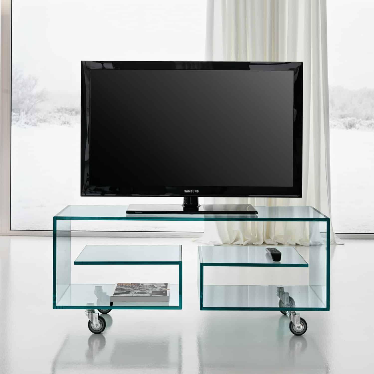Flo Glass TV Stand By Tonelli