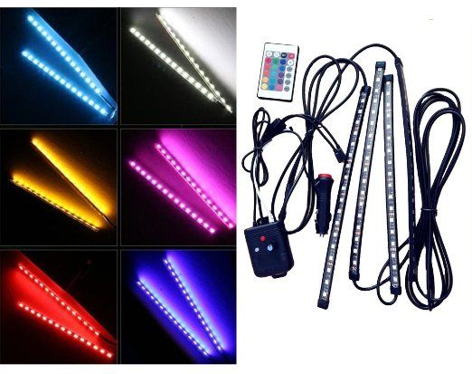 Wireless Led Light Strips Alluring Ecowlboy Interior Underdash Multicolor Led Light Strip Kit Bar Review