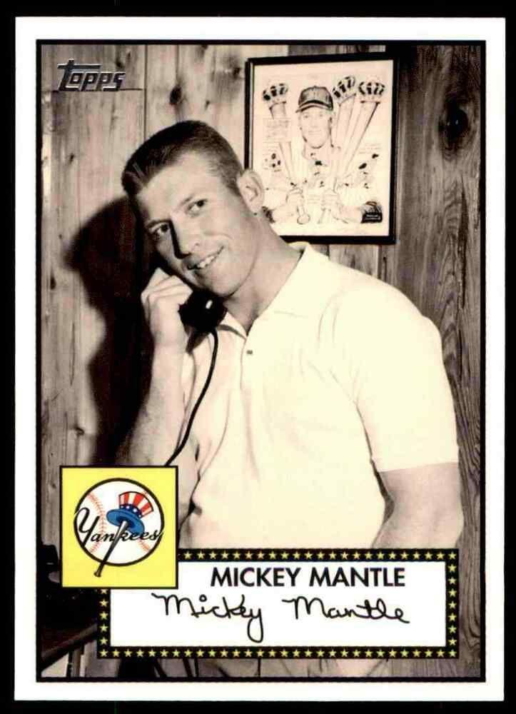 2007 Topps Baseball Mickey Mantle New York Yankees 4 Insert Newyorkyankees In 2020 Mickey Mantle New York Yankees Baseball