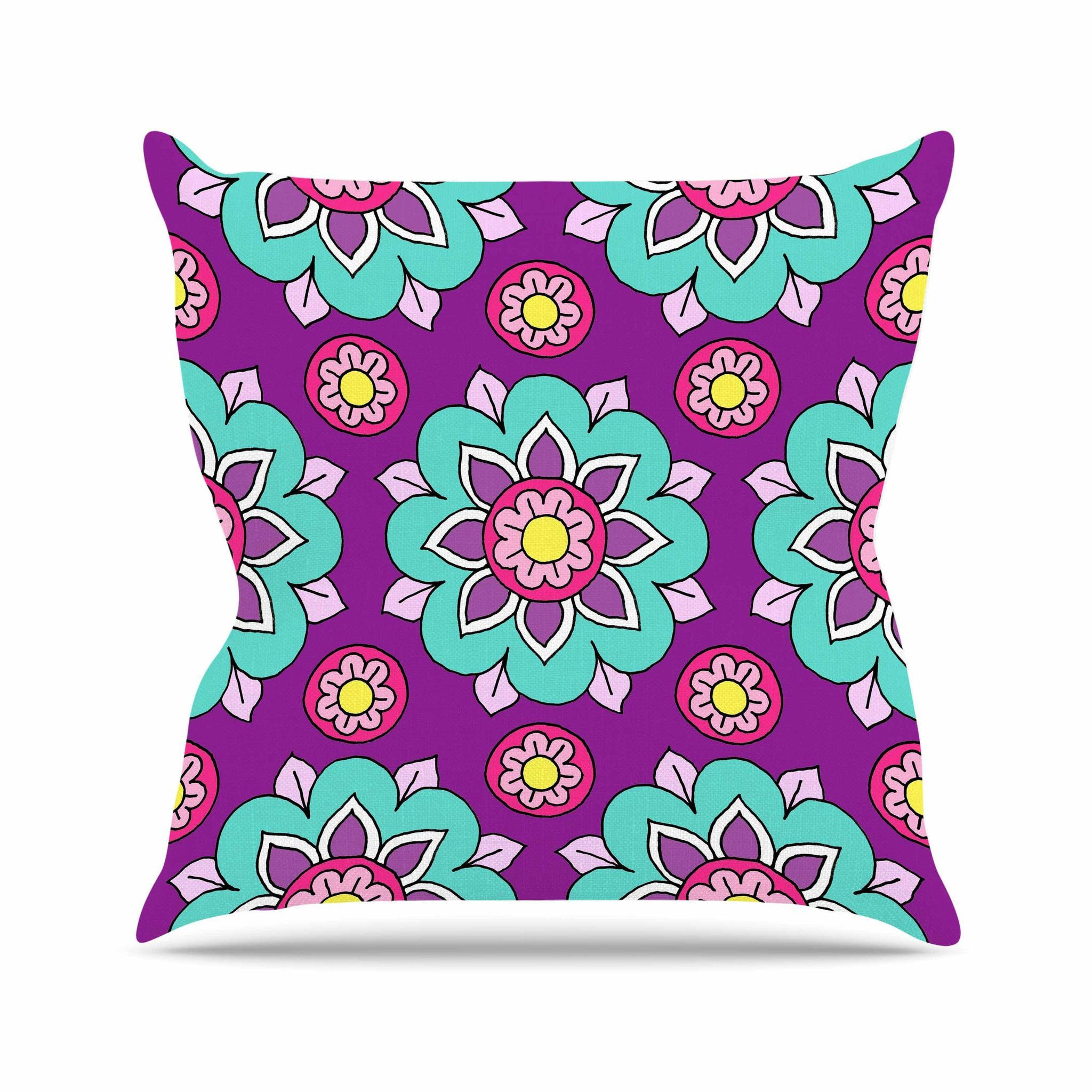 turquoise pillow cover pillows gallery watery bed of one for blue zipper throw purple and accent cushion