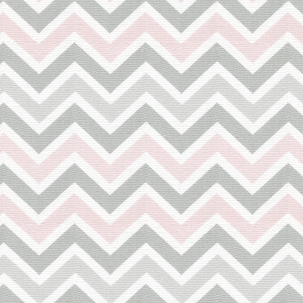 Pink and Gray Chevron Fabric by the Yard | Chevron fabric, Grey ...