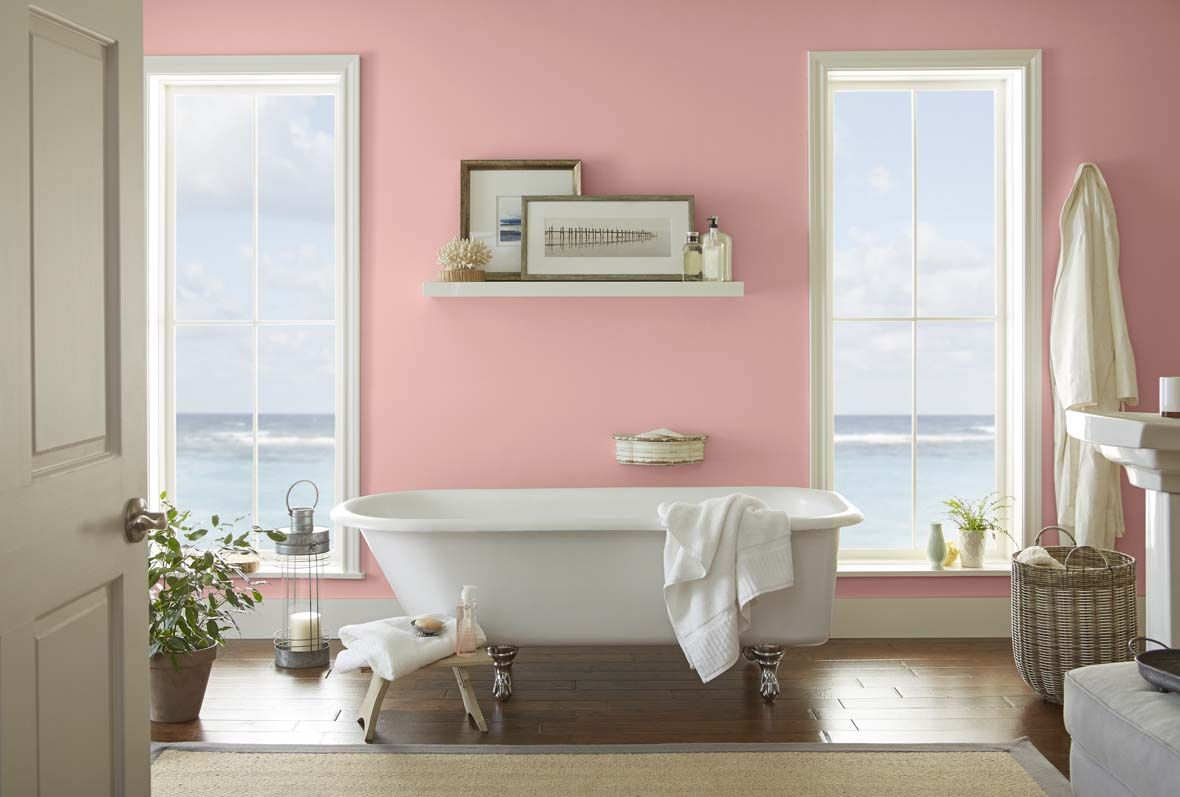 Behr Color Trends 2018 Color Sample T18-01 POSITIVELY PINK | House ...