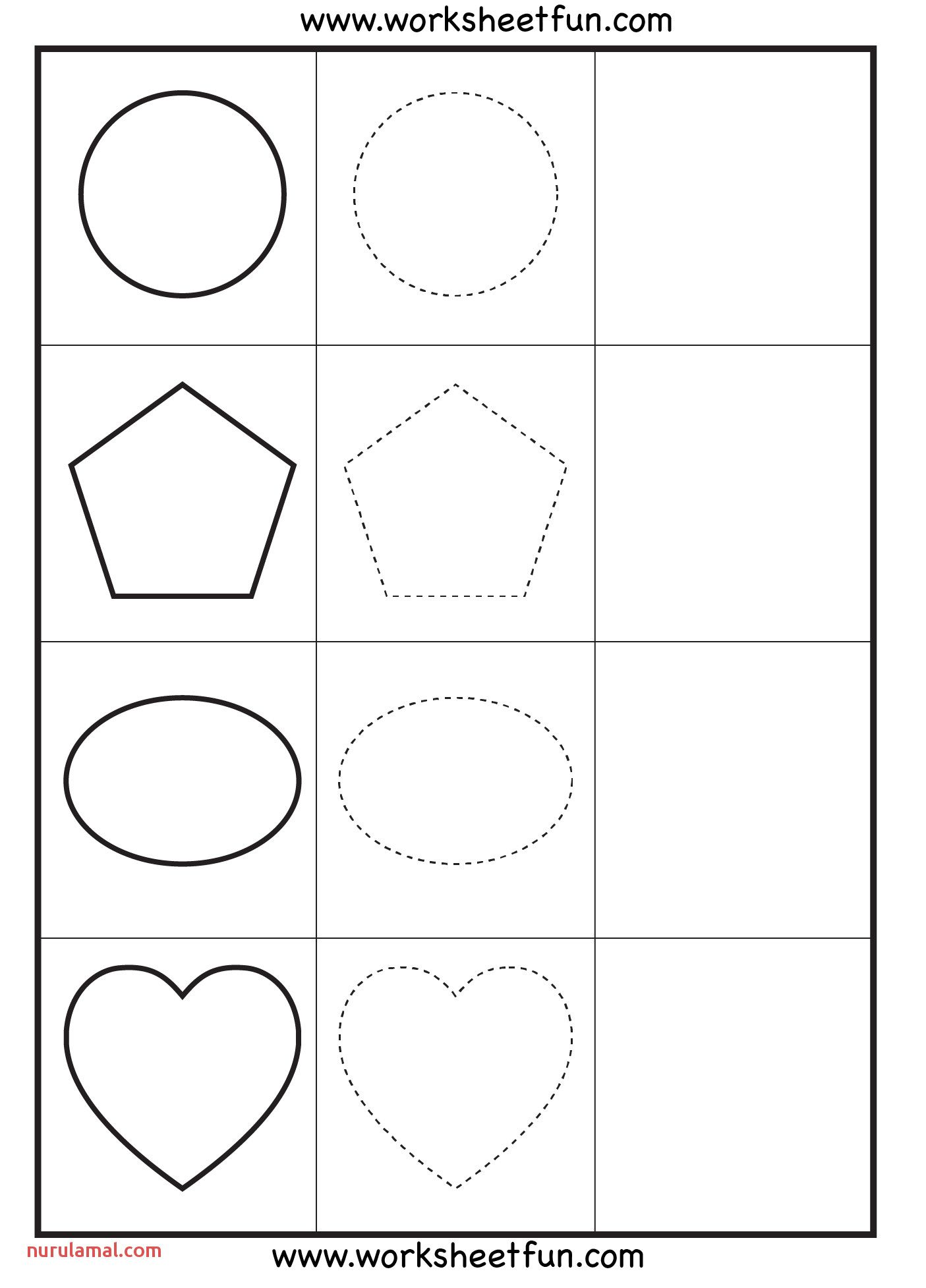 Preschool Tracing Practice Worksheets In