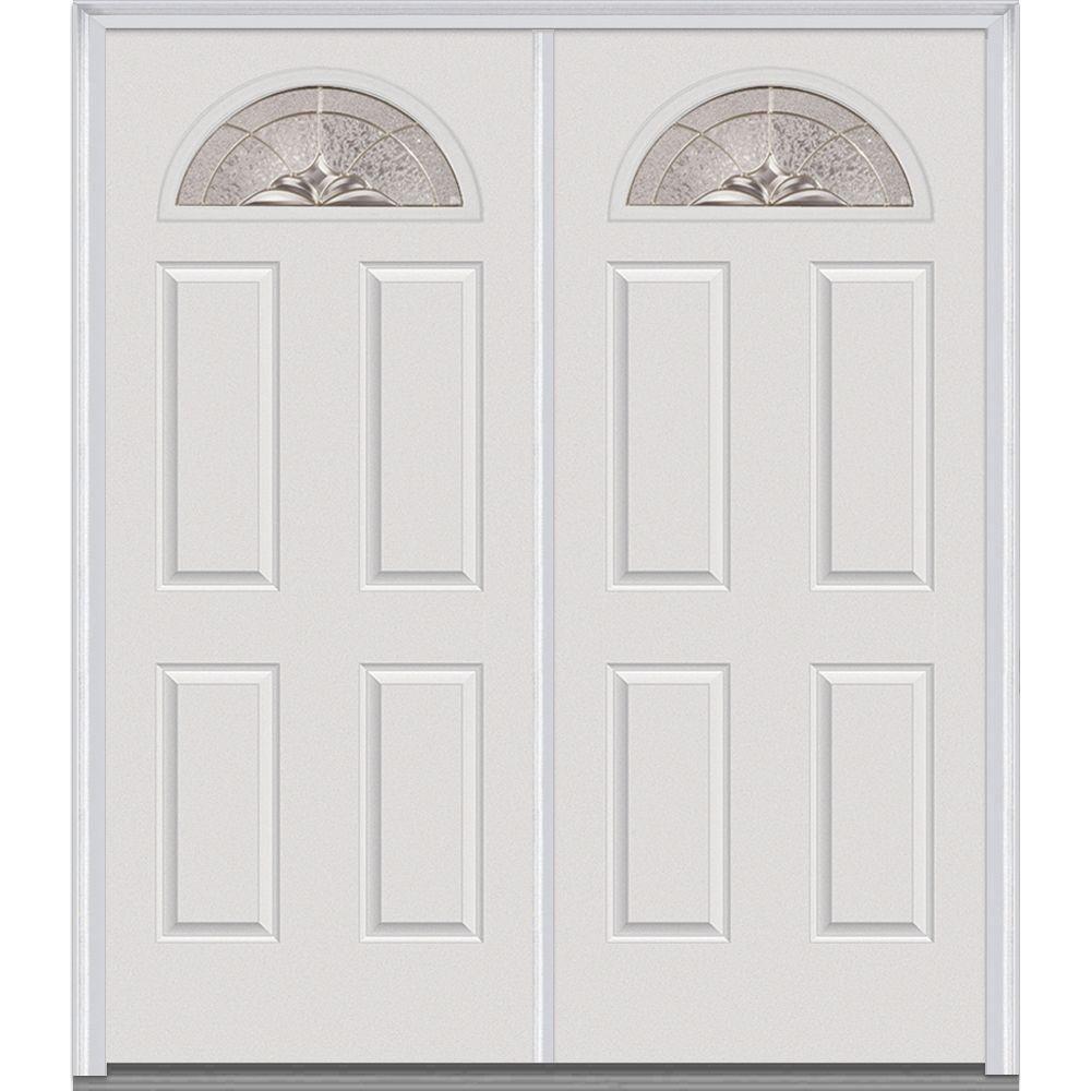 Mmi Door 72 In X 80 In Heirlooms Left Hand Inswing Fan Lite
