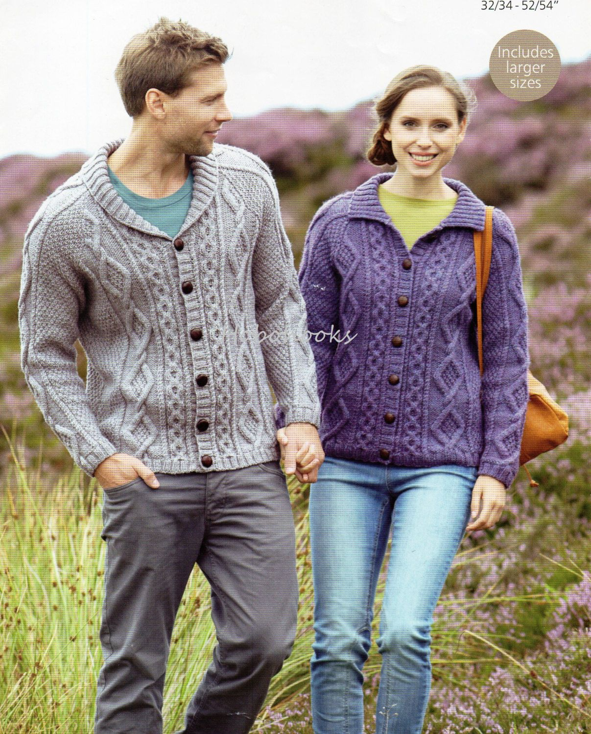 Womens Knitting Pattern Mens Knitting Pattern Aran Cardigan 32 ...