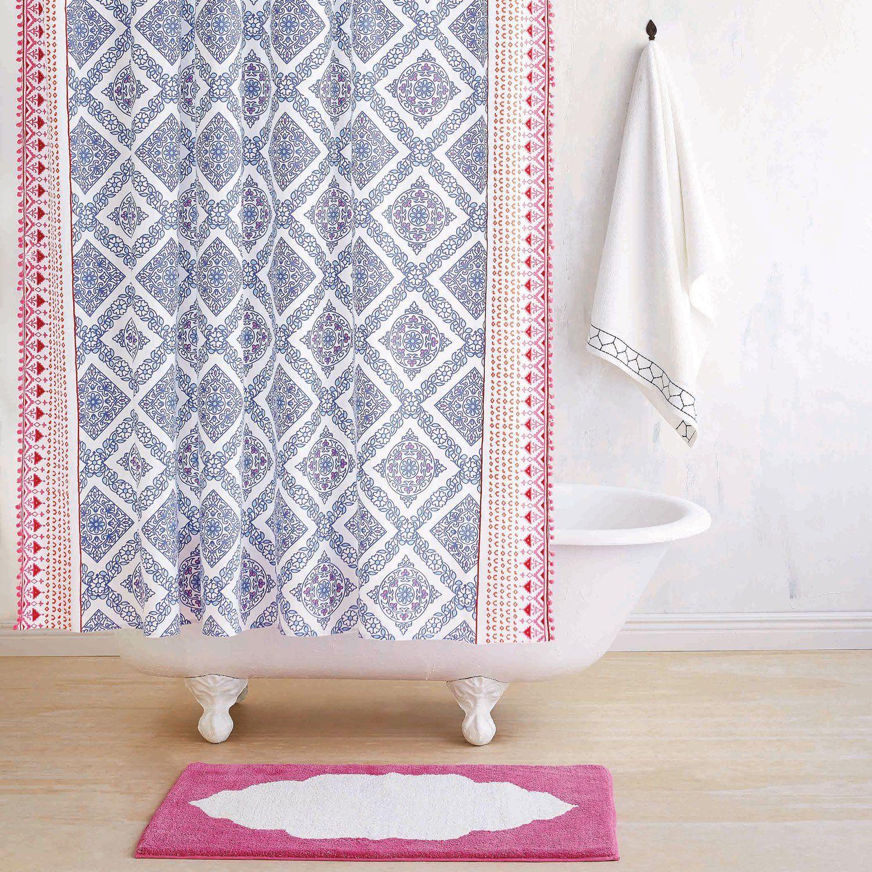 John Robshaw Textiles Mitta Periwinkle Shower Curtain Stylish