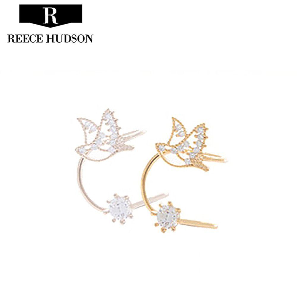 Caliente Nueva Moda Ear Cuff Brincos Rhinestone Encantador Pequeño ...