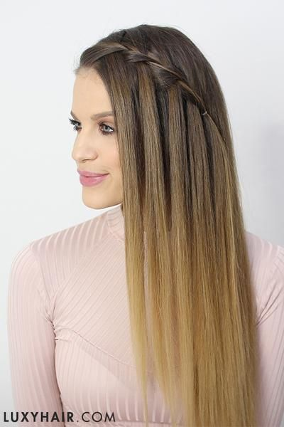 How To Do A Waterfall Braid Tutorial Step By Step Easy Hairstyles Easy Summer Hairstyles Summer Hairstyles