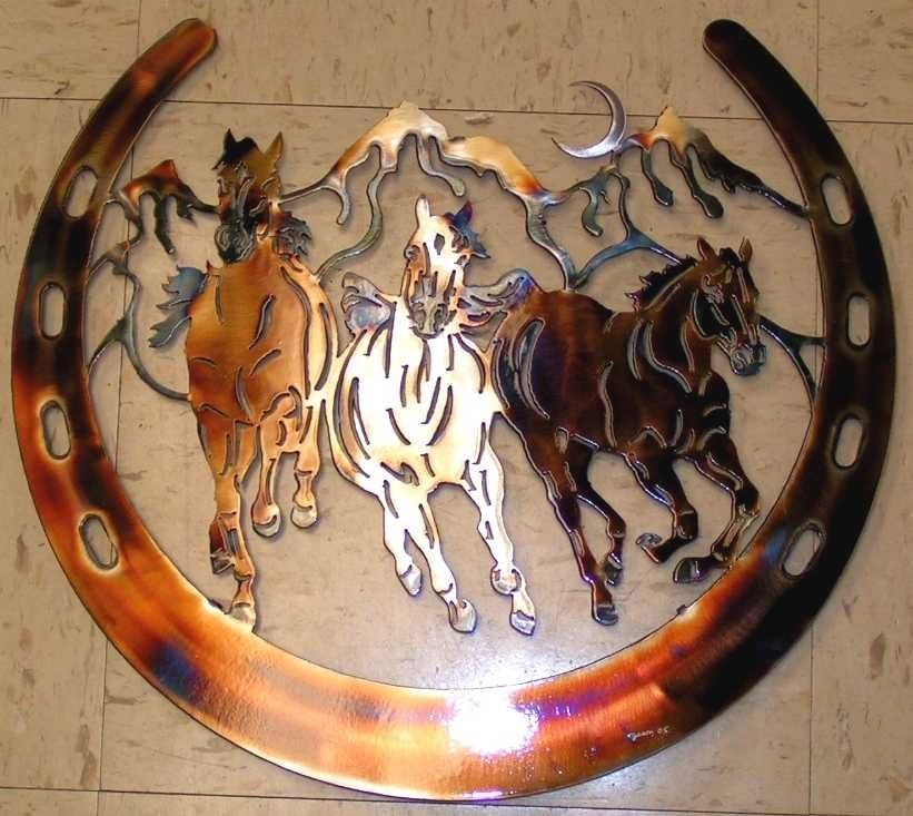 horse metal wall art | scroll saw and wood burning | Pinterest ...
