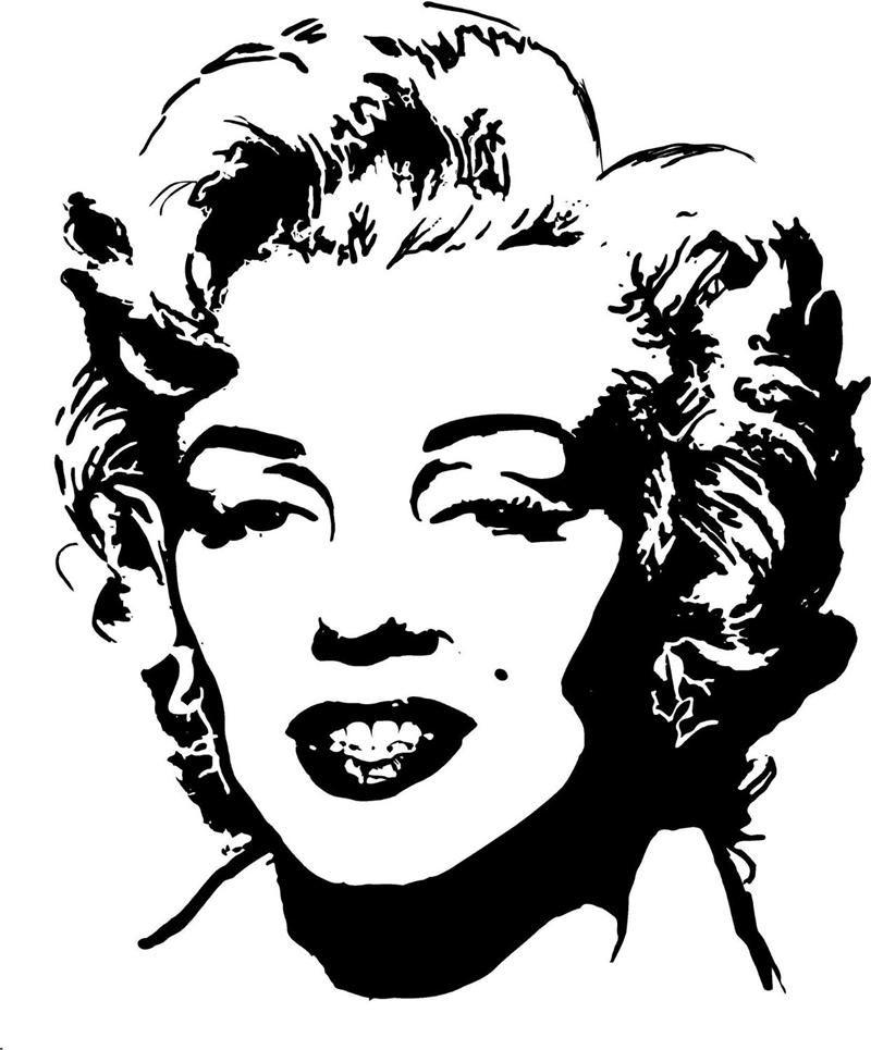 Marilyn monroe silhouette style 2 vinyl wall art decal 28 x 22 silhuette - Schablone wandmalerei ...