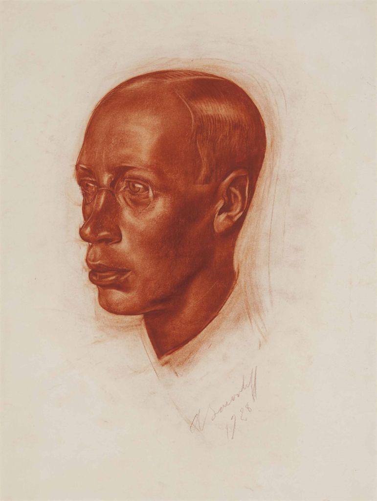 Alexandre iacovleff portrait of sergei prokofiev 1928 sanguine on paper 22 x