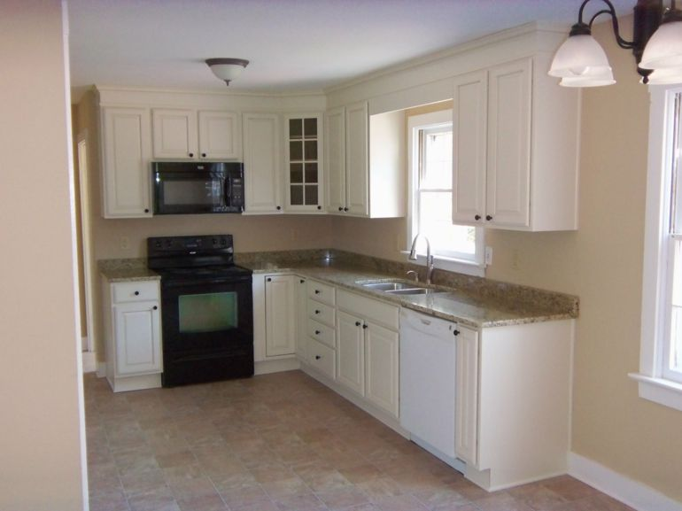 cocinas pequeñas en forma de l muebles blancos | cocinas ... - Muebles De Cocina Pequenas