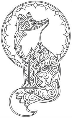 grow wild  foximage  paper embroidery animal coloring pages coloring pages