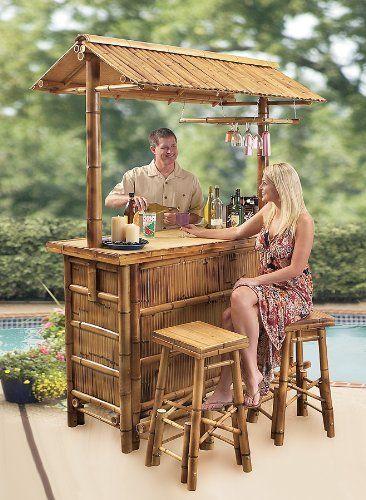 South Pacific Bamboo Tiki Bar Patio Lawn Garden