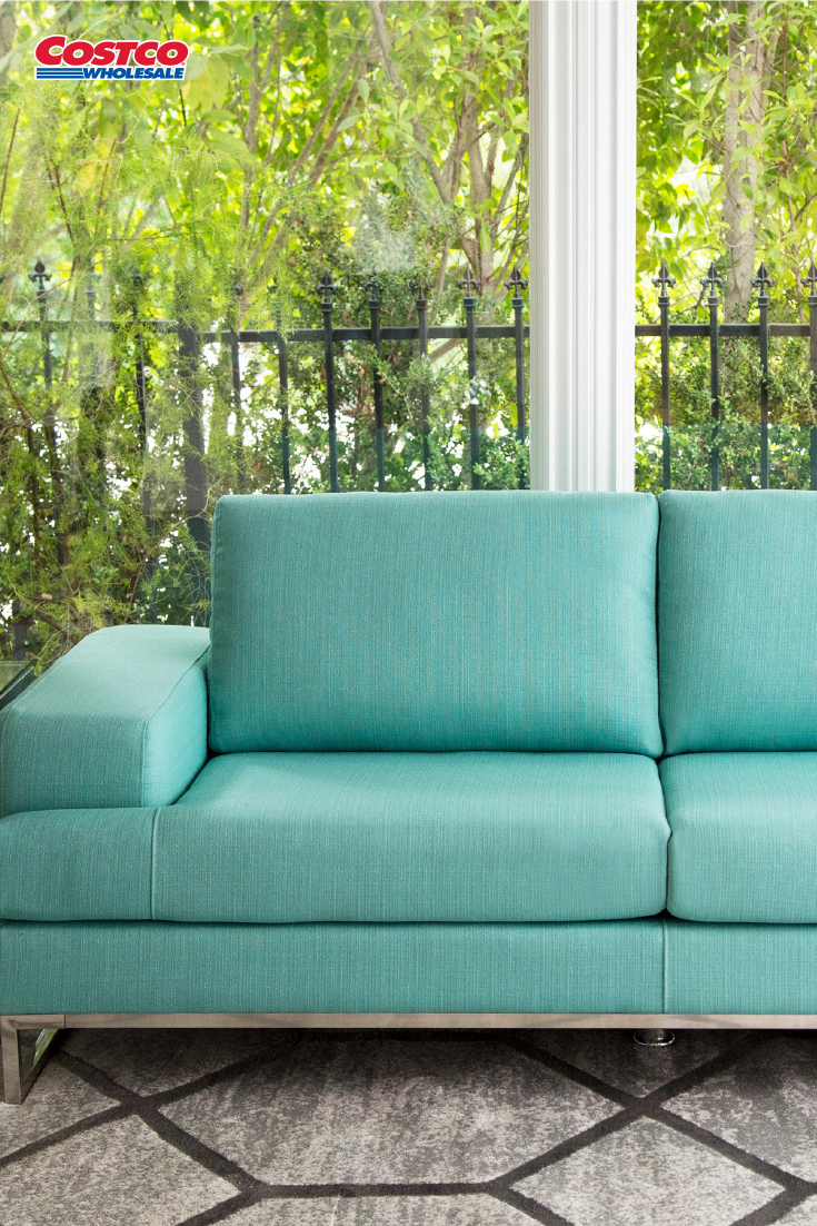 Canberra Fabric Convertible Sofa With