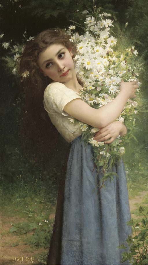 Jules-Cyrille Cavé (French, 1859-1940) , The flower girl