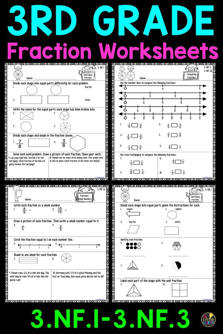 These Third Grade Fraction Worksheets Are Perfect For 3rd Graders Aligns With 3 Nf 1 3rd Grade Fractions Fractions Worksheets Third Grade Fractions Worksheets [ 1104 x 736 Pixel ]
