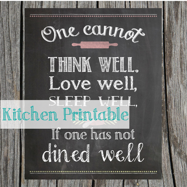 Chalkboard Kitchen Printable – My Battle Against Blank Walls #printable #free #kitchen #foodie
