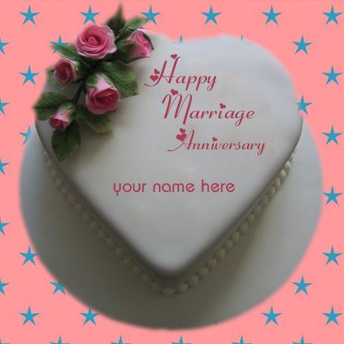 Write Name On Happy Anniversary Wishes Cake Free Print Name On Happy Wedding Cake Ge Happy Marriage Anniversary Cake Happy Anniversary Cakes Birthday Cake Kids