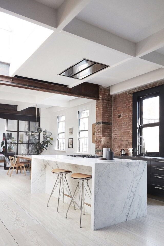 Absolutely Love This Open Dining And Kitchen Exposed Brick