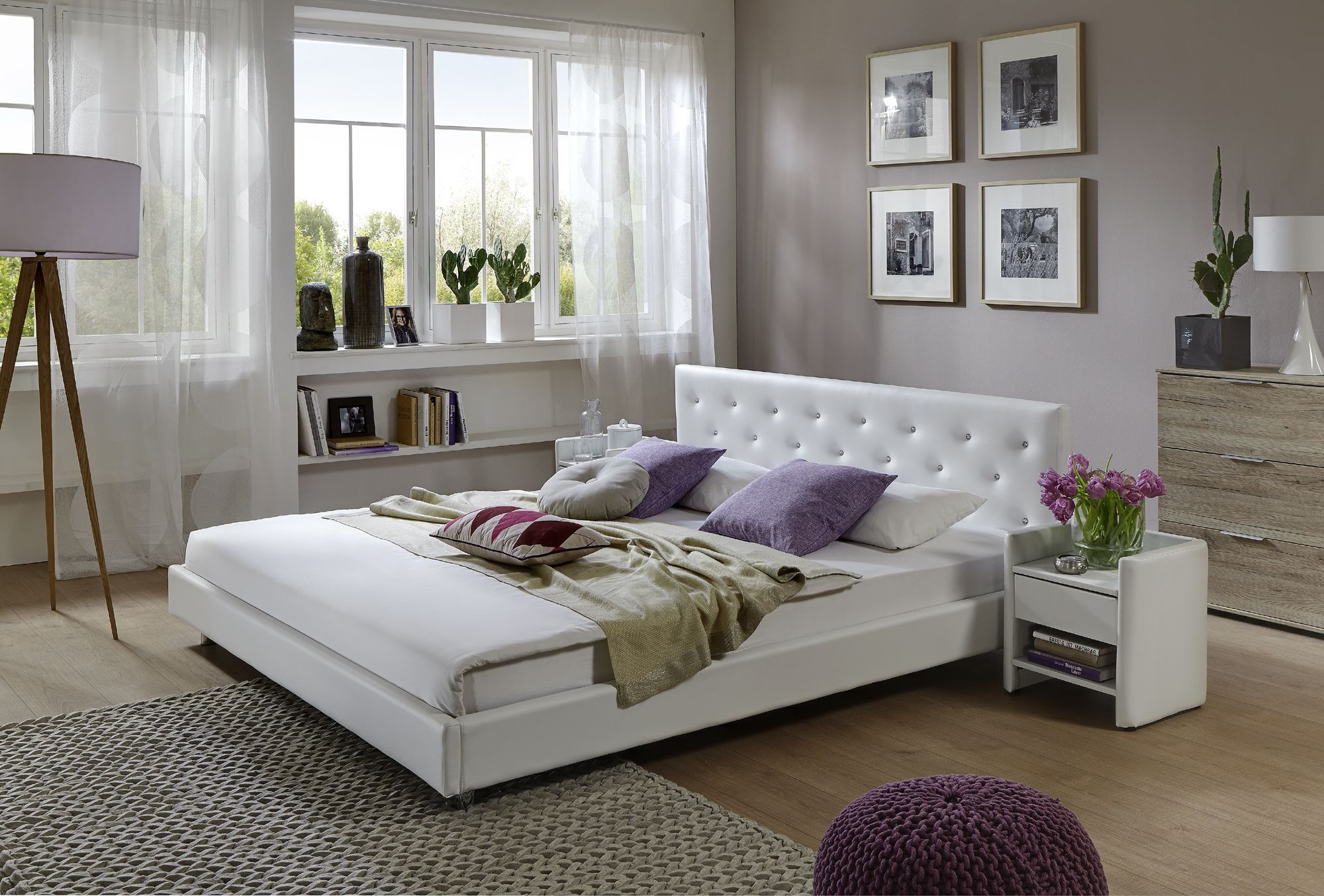 sam polsterbett 180 x 200 cm wei adonia schlafe gut mit sam pinterest wohnideen und. Black Bedroom Furniture Sets. Home Design Ideas