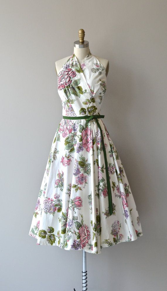 Lilli Ann floral dress vintage 1950s dress floral by DearGolden