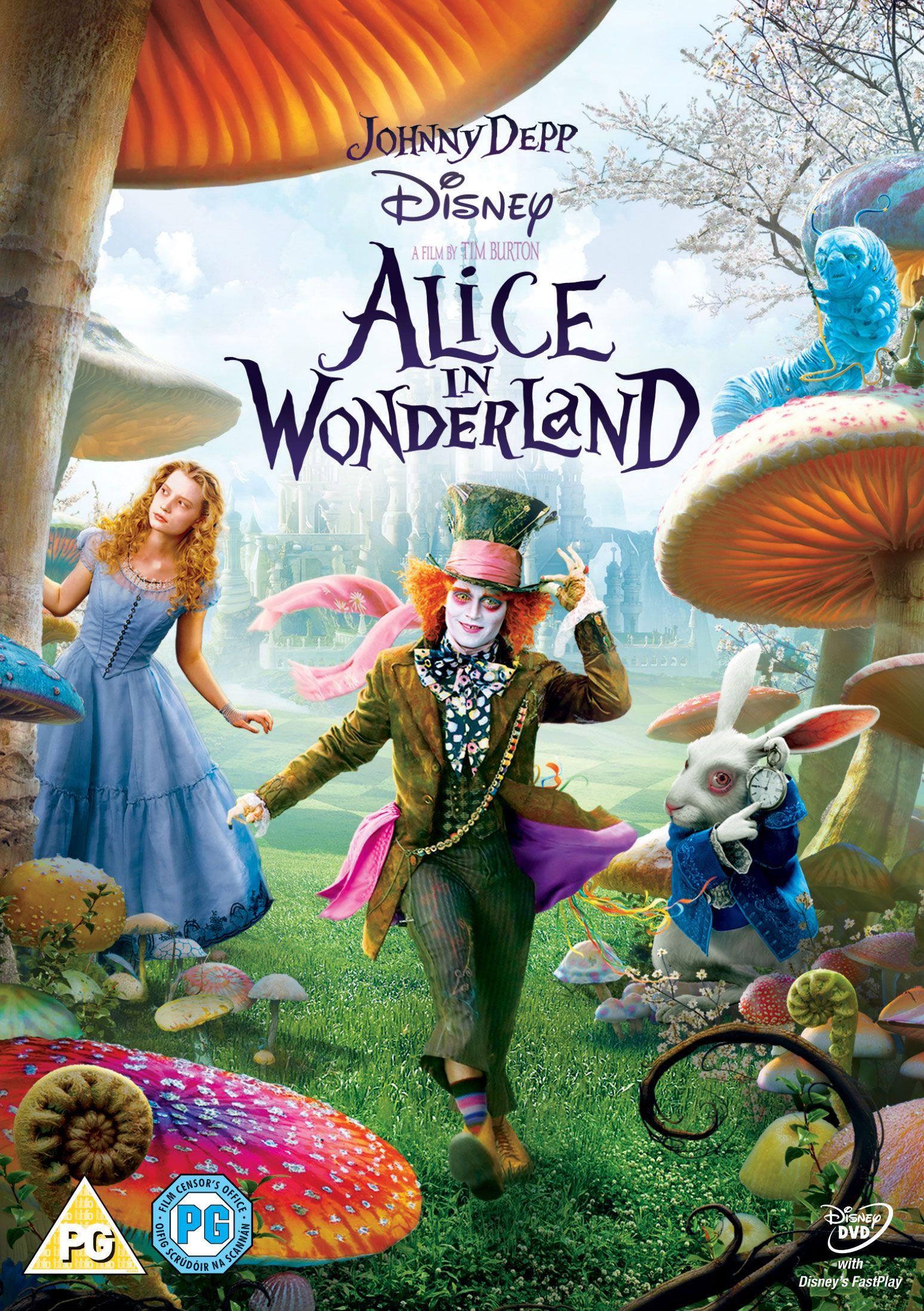 Alice In Wonderland Dvd Peliculas De Disney Alicia En El Pais De Las Maravillas Afiche De Pelicula